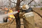 В лесах НСО тушат четыре пожара